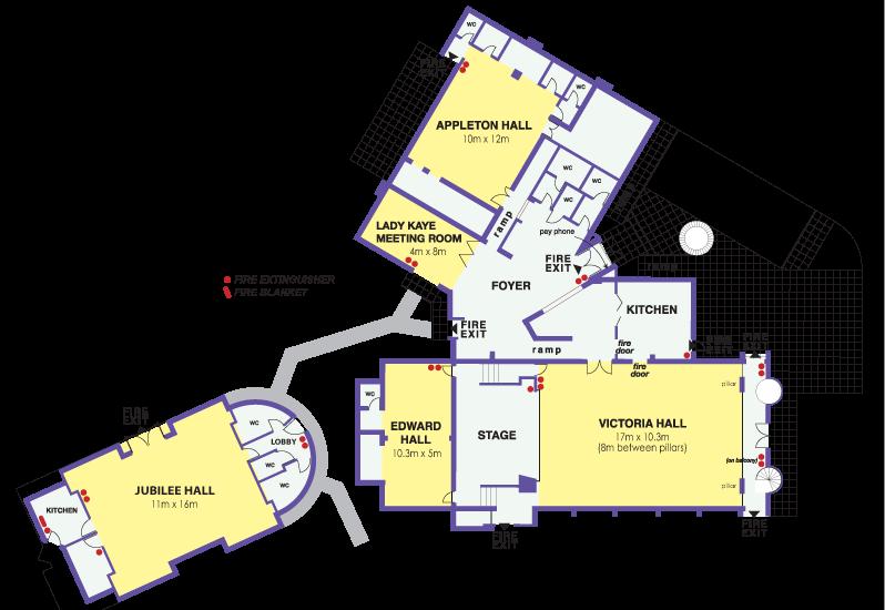 Victoria Halls floor plan